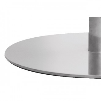 Pied de table en inox brossé pour plateau rond - Devis sur Techni-Contact.com - 3
