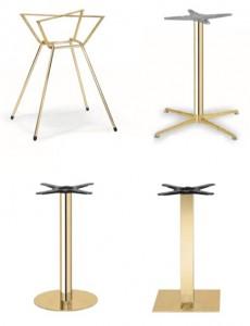 Pied de table intérieur doré pour restaurant - Devis sur Techni-Contact.com - 1