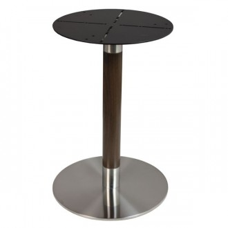 Pied de table rond en inox brossé - Devis sur Techni-Contact.com - 1