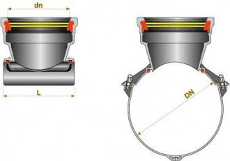 Piquage à selle uni PAm PLUVIAL sur collecteur à 90° - Devis sur Techni-Contact.com - 1