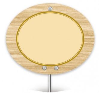 Pique prix avec étiquette ovale - Devis sur Techni-Contact.com - 1