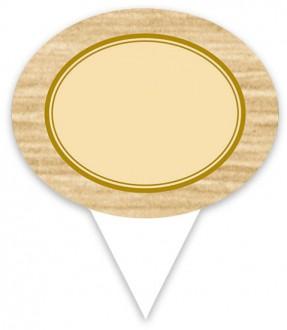 Pique prix avec étiquette ovale - Devis sur Techni-Contact.com - 2