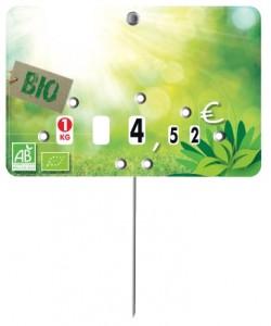 Pique prix produit bio à roulettes - Devis sur Techni-Contact.com - 1