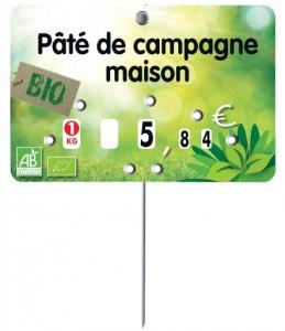 Pique prix produit bio à roulettes - Devis sur Techni-Contact.com - 2