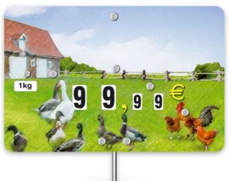 Pique prix volaille 10,6 x 7 cm - Devis sur Techni-Contact.com - 1