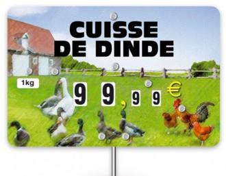 Pique prix volaille 10,6 x 7 cm - Devis sur Techni-Contact.com - 2