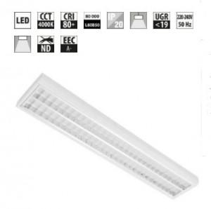 Plafonnier LED à grille anti éblouissement - Devis sur Techni-Contact.com - 1