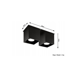 Plafonnier Quad 2 SOLLUX - Devis sur Techni-Contact.com - 3