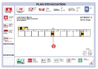 Plan d'évacuation incendie - Devis sur Techni-Contact.com - 2