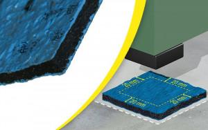 Plaque antivibratoire autoscellant pour machine - Devis sur Techni-Contact.com - 1