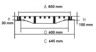 Plaque d'égout à grille PMR D 400 - Devis sur Techni-Contact.com - 2