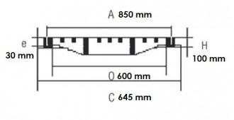 Plaque d'égout à grille ronde PMR D 400 - Devis sur Techni-Contact.com - 2
