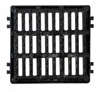 Plaque d'égout carrée PMR à grille C 250 - Devis sur Techni-Contact.com - 1