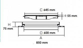 Plaque d'égout carrée PMR à grille C 250 - Devis sur Techni-Contact.com - 2