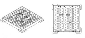 Plaque d'égout carrée PMR à grille C 250 - Devis sur Techni-Contact.com - 3