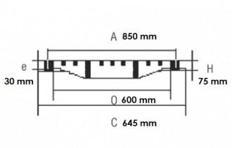 Plaque d'égout ronde à grille concave D 400 - Devis sur Techni-Contact.com - 2