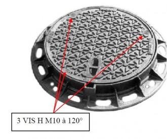 Plaque d'égout ronde à surface antidérapante D 400 - Devis sur Techni-Contact.com - 1