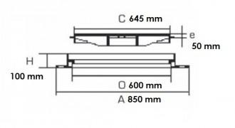 Plaque d'égout ronde à surface antidérapante D 400 - Devis sur Techni-Contact.com - 2
