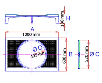 Plaque de recouvrement articulée en fonte ductile C 250 - Devis sur Techni-Contact.com - 2