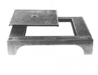 Plaque de recouvrement avec cadre et avaloir C 250 - Devis sur Techni-Contact.com - 1