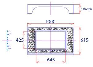 Plaque de recouvrement avec cadre et avaloir C 250 - Devis sur Techni-Contact.com - 2