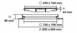 Plaque de recouvrement carrée D 400 - Devis sur Techni-Contact.com - 2