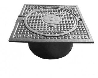 Plaque de recouvrement en fonte B 125 - Devis sur Techni-Contact.com - 1