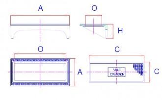 Plaque de recouvrement en fonte bordure droit C 250 - Devis sur Techni-Contact.com - 2