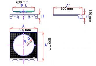 Plaque de recouvrement profil A articulée C 250 - Devis sur Techni-Contact.com - 2