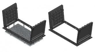Plaque de recouvrement rectangulaire articulé D 400 - Devis sur Techni-Contact.com - 1