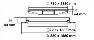 Plaque de recouvrement rectangulaire articulé D 400 - Devis sur Techni-Contact.com - 2