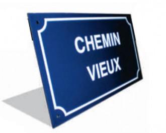 Plaque de rue en émail - Devis sur Techni-Contact.com - 1