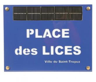 Plaque de rue lumineuse solaire - Devis sur Techni-Contact.com - 2