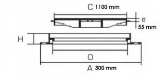 Plaque en fonte caniveau D 400 - Devis sur Techni-Contact.com - 2