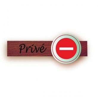 Plaque identification bois tous commerces - Devis sur Techni-Contact.com - 2