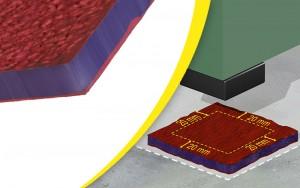 Plaque tapis antivibratoire - Devis sur Techni-Contact.com - 2