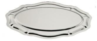 Plat ovale 'Louis XV' en inox 18% - Devis sur Techni-Contact.com - 1