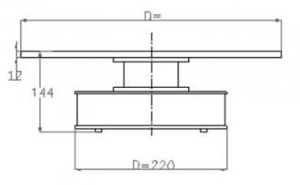 Plateau rotatif de taille moyenne - Devis sur Techni-Contact.com - 2