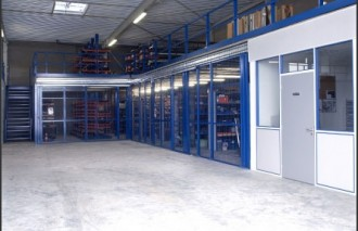 Plateforme avec bureau à cloison modulaire - Devis sur Techni-Contact.com - 1
