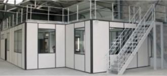 Plateforme avec bureau à cloison modulaire - Devis sur Techni-Contact.com - 3