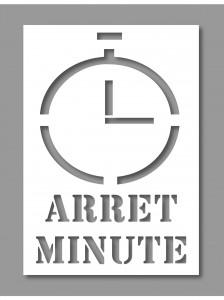 Pochoir arrêt minute - Devis sur Techni-Contact.com - 1