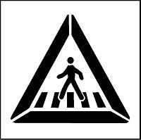 Pochoir attention piéton pour marquage - Devis sur Techni-Contact.com - 1