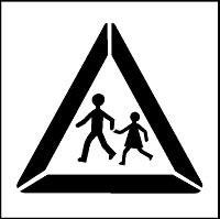 Pochoir attention piéton pour marquage - Devis sur Techni-Contact.com - 3
