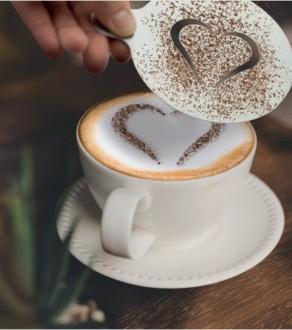 Pochoir café en inox - Devis sur Techni-Contact.com - 1