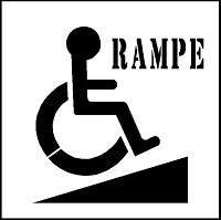 Pochoir handicap pour marquage parking - Devis sur Techni-Contact.com - 6
