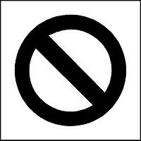 Pochoir panneau d'interdiction pour marquage - Devis sur Techni-Contact.com - 2