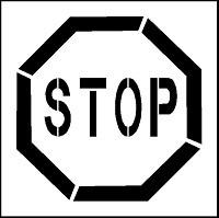 Pochoir panneau d'interdiction pour marquage - Devis sur Techni-Contact.com - 3