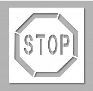 Pochoir panneau stop - Devis sur Techni-Contact.com - 1