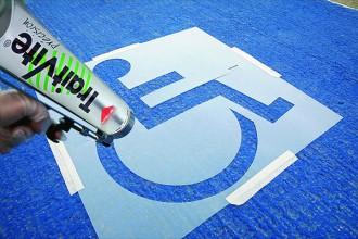 Pochoir place handicapé - Devis sur Techni-Contact.com - 1
