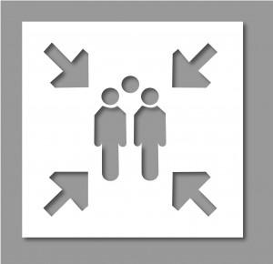 Pochoir point de rassemblement - Devis sur Techni-Contact.com - 1
